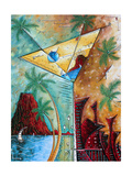 Tropical Martini Glass Cityscape PoP Art
