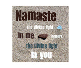 Namaste with Pebble and Beach Glass