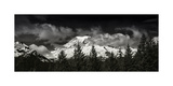 Mt Rainier Panorama BW