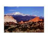 Pikes Peak above the Garden of the Gods