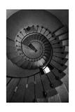 Scottys Castle Stairwell BW