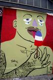 Gayffiti in Paris Reproduction d'art par KASHINK