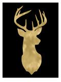 Deer Head Right Face Golden Black