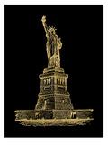 Statue of Liberty Golden black