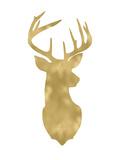 Deer Head Right Face Golden White