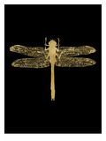 Dragonfly Golden Black