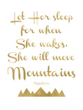 Let Her Sleep Mountains Golden White
