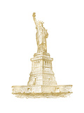 Statue of Liberty Golden white