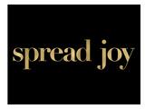 Spread Joy Golden Black