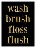 Wash Brush Floss Golden Black