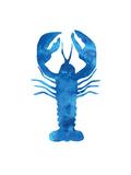 Watercolor Blue Lobster Reproduction d'art par Jetty Printables