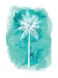Watercolor Aqua B Palm