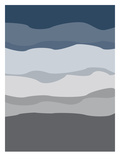Navy Gray Abstract