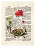 Chameleon Love Reproduction d'art par Matt Dinniman