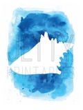 Watermark Watercolor Blue Background