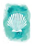 Watercolor Aqua B Shell