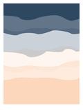 Navy Peach Abstract