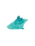 Watercolor Aqua Conch