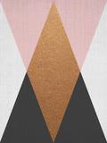 Geometric Pink Bronze Reproduction d'art par LILA X LOLA