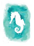 Watercolor Aqua B Seahorse