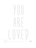 Beige You Are Loved Reproduction d'art par Jetty Printables