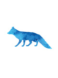 Watercolor Blue Fox