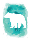 Watercolor Aqua Bear