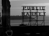 Pike Place Market and Puget Sound  Seattle  Washington State