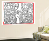The Marriage of Heaven and Hell, 1984 Reproduction taille murale par Keith Haring