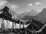 Prayer Flags  View From Gokyo Ri  5483M  Gokyo  Sagarmatha National Park  Himalayas