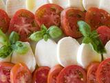 Tomatoes  Basil and Mozzarella Cheese