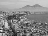 Mt Vesuvius and View over Naples  Campania  Italy