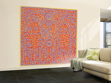 Untitled Pop Art Large reproduction taille murale par Keith Haring