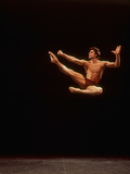 """Dancer Edward Villella Leaping Through Air in Performance of George Balanchine's """"The Prodigal Son"""""""