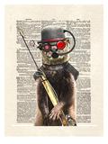 Salty Otter Reproduction d'art par Matt Dinniman
