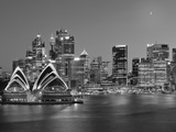 Australia  New South Wales  Sydney  Sydney Opera House  City Skyline at Dusk