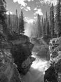 Athabasca Falls Waterfall  Jasper National Park  Alberta  Canada