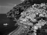 Amalfi Coast, Coastal View and Village, Positano, Campania, Italy Reproduction d'art par Steve Vidler