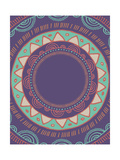 Tribal Bohemian Mandala Background with round Ornament Pattern Reproduction d'art par Marish