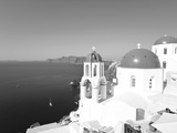 Blue Domed Churches in the Village of Oia  Santorini (Thira)  Cyclades Islands  Aegean Sea  Greece