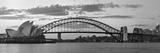 Opera House and Harbour Bridge, Sydney, New South Wales, Australia Papier Photo par Michele Falzone