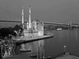 Bosphoros River Bridge and Ortakoy Camii Mosque  Ortakoy District  Istanbul  Turkey