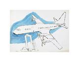 Airplane, c. 1959 Reproduction d'art par Andy Warhol