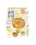 Apple Tart Recipe Reproduction d'art par Lucile Prache