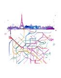 Beneath Paris Reproduction d'art par Jessica Durrant