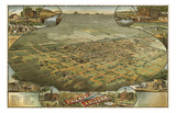 Bird's Eye View of Phoenix  Arizona  1885