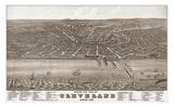 Bird's Eye View of Cleveland  Ohio  1877