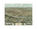 Bird's Eye View of Iowa City  Iowa  1868