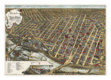 Bird's Eye View of Minneapolis  Minnesota  1891