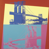 Brooklyn Bridge  1983 (blue bridge/yellow background)